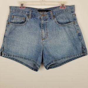 Calvin Klein Size 12 Omega Side Slit Jean Shorts